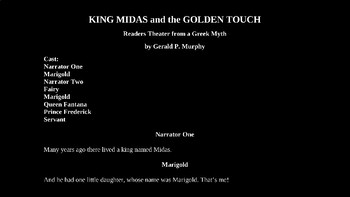 King Midas and the Golden Touch PowerPoint