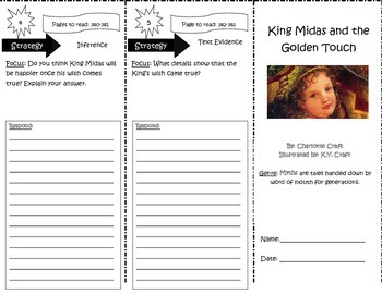 King Midas and the Golden Touch Trifold 5th Grade Unit 6 Week 3