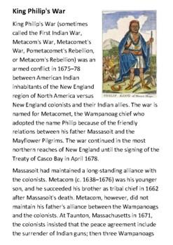 King Philip's War Handout