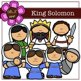 King Solomon Clipart (color and black&white)