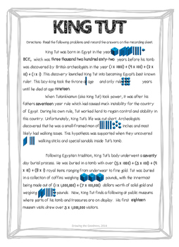 King Tut : A High Interest Reading Passage for Reading Whole Numbers