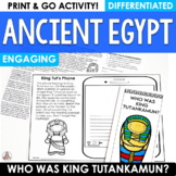 Ancient Egypt Informational Text King Tut
