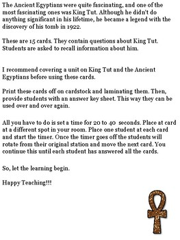 King Tut Scoot Game