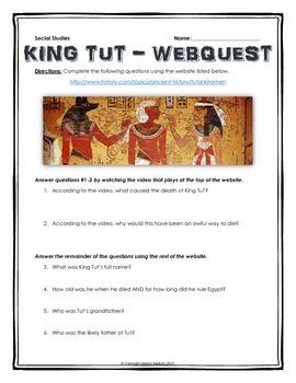 King Tut - Webquest with Key (History.com) (Ancient Egypt)