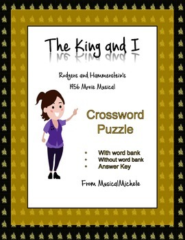 King and I Musical Crossword Puzzle