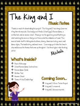 King and I Silent Review Game and Test