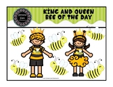 King and Queen Bee of the Day Necklaces (pdf) FREEBIE