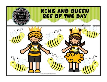 King and Queen Bee of the Day Necklaces (.png files)