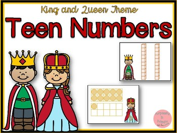 King and Queen Theme Teen Numbers