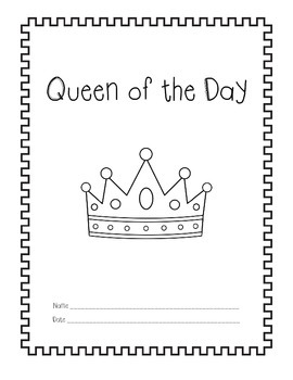 King and Queen of the Day Class Book