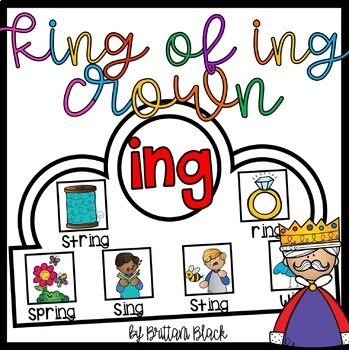 """King of """"ing"""" Crown and Write the Room"""