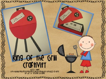 King of the Grill {Father's Day Craftivity}