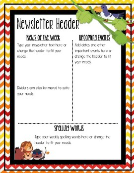 king of the lions newsletter template editable by teaching with magic