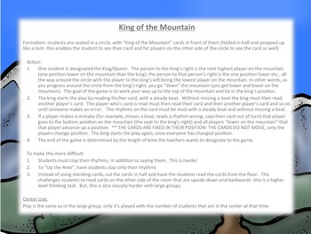 King of the Mountain Rhythm Practice: half note