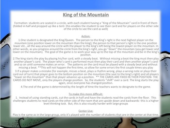 King of the Mountain: a BAGED Recorder Game and Assessment, teachersloveteachers