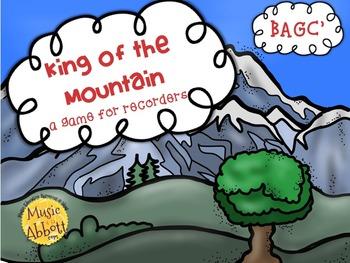 King of the Mountain: a BAGC' Recorder Game and Assessment, teachersloveteachers