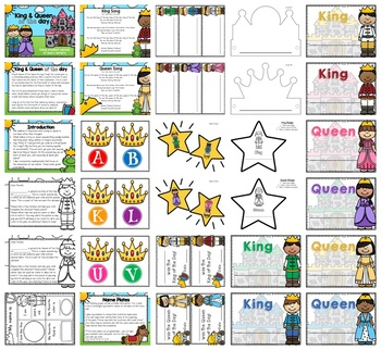 King or Queen of the Day: Use Student Names to Learn Letters (Programmable)