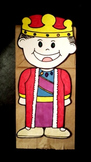 King paper bag puppet pattern