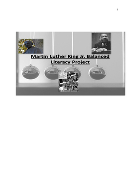 "King's ""Three Ways of Meeting Oppression"" Balanced Literacy Project"