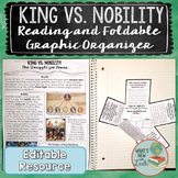 King vs. Nobility Reading and Activity