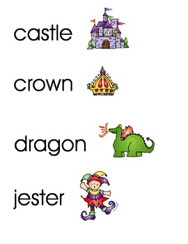 King/Queen Word Cards/Vocabulary Cards