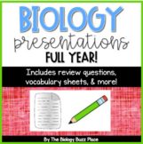 28 Biology PDF Presentations with Student Vocabulary Sheets