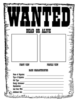 Kingdom Classification Wanted Poster