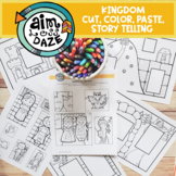 Kingdom Cut, Color and Paste Story Telling Activity