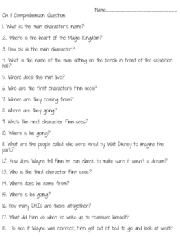 Kingdom Keepers Comprehension Questions ch.1