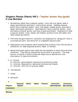 Kingdom Plantae - Plants HW 2