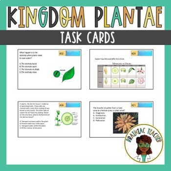 Kingdom Plantae TASK CARDS
