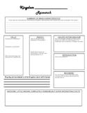 Kingdom Research Graphic Organizer