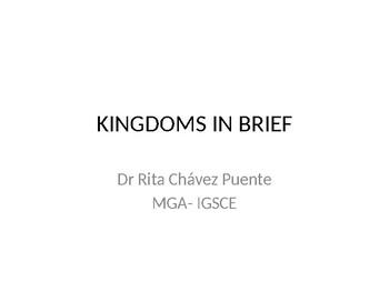Kingdom in brief (sciences)