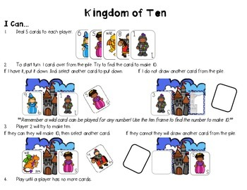 Kingdom of Ten: Making Ten partner game