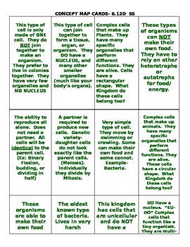 Kingdoms Card Sort 6.12D(S)