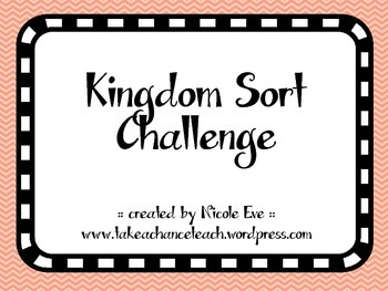 Activity Pack: Kingdoms Identification Sort Cards