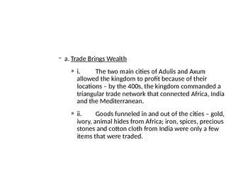 Kingdoms and Trading States of Africa Powerpoint
