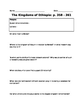 Kingdoms of Ethiopia
