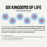 Kingdoms of Life Coloring Activity and Graphic Organizer