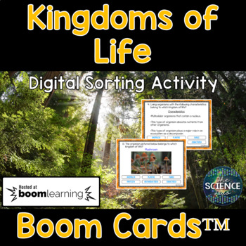 Kingdoms of Life - Digital Boom Cards™ Sort