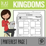 Kingdoms of Life Science Pinterest Page
