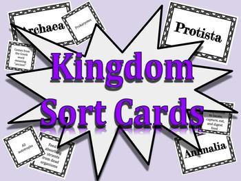 Kingdoms of Life Sort Cards