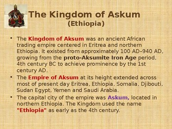 Kingdoms of Medieval Africa – The Kingdom of Askum (Axum)