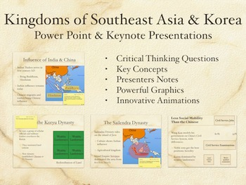 Kingdoms of Southeast Asia and Korea PowerPoint and Keynot