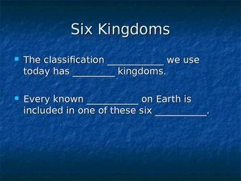 Kingdoms of life cloze