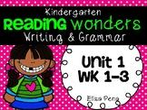 Kindergarten Reading Wonders Unit 1 Writing