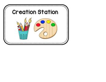 Kingergarten Station Signs
