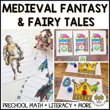 Kings, Queens, Castles & Dragon Activities for Pre-K, Preschool and Tots