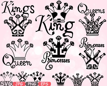 Kings Queens & Princesses Graduation CLASS clipart CROWN Birthday Birth -611s