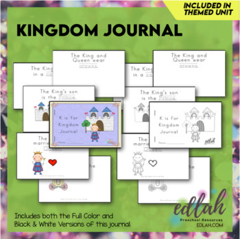 Kings (& Queens) Printable Journal